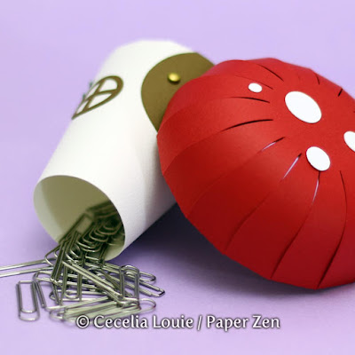 Paper Mushroom Gift Box SVG File for Cricut Explore Silhouette - Clips