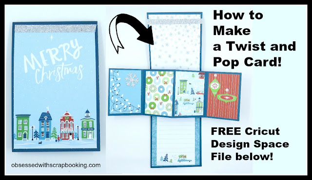 twisting hearts pop up card template - obsessed with scrapbooking video twist and pop up cricut