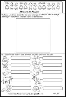 Avaliacao diagnostica 1º ano alfabetização
