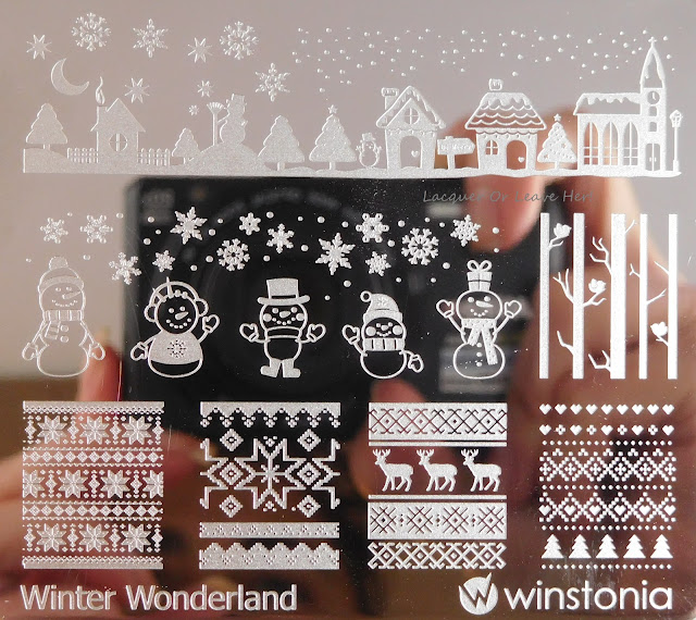 Winstonia Winter Wonderland stamping plate