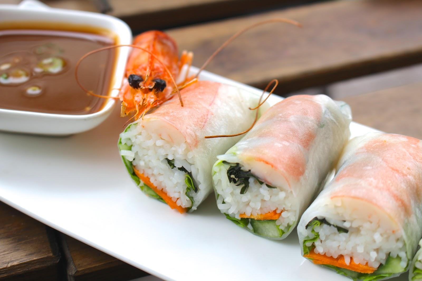 Gỏi cuốn tôm Bún Antwerp vietnamese streetfood rice paper rolls prawn
