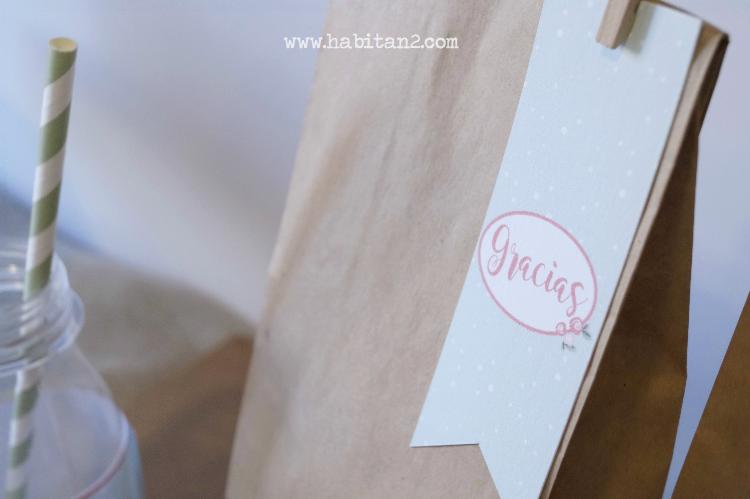 Papelería handmade diseño de Habitan2 | Decoración de eventos low cost | Party kits personalizados para fiestas y eventos | Papelería personalizada para mesas dulces