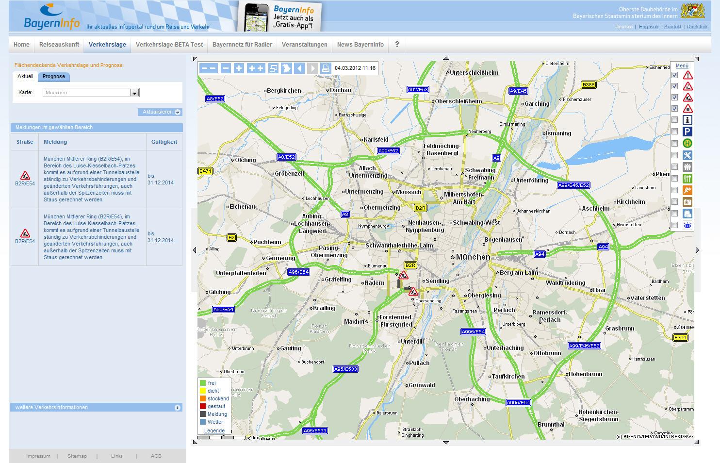 Aktuelle Verkehrslage Deutschland