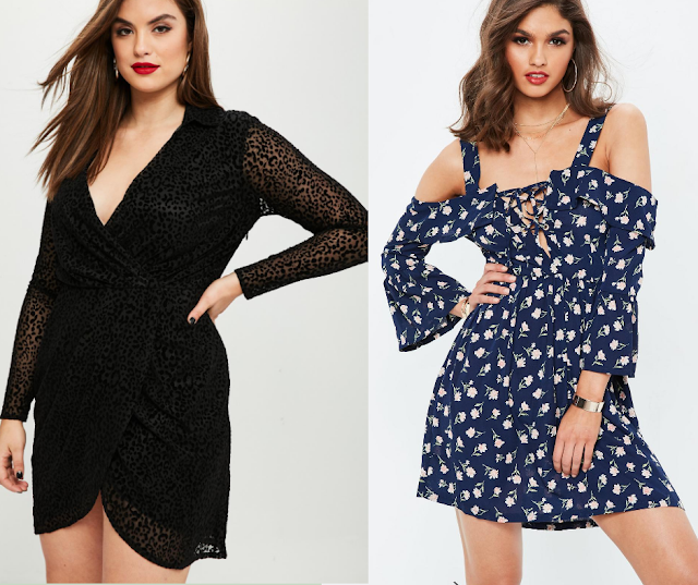 Curve Leopard Wrap Dress || Tall Cold Shoulder Dress