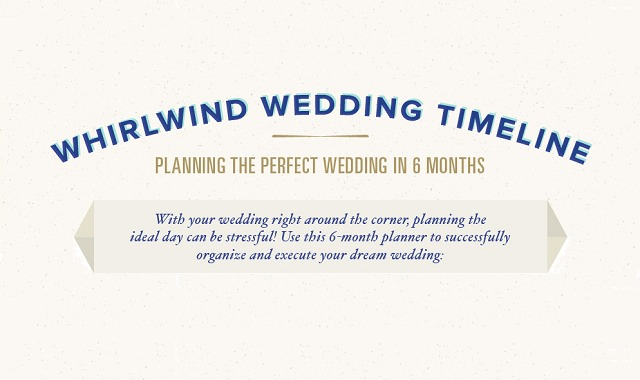 Whirlwind Wedding Timeline Planning the Perfect Wedding in 6 Months - wedding timeline