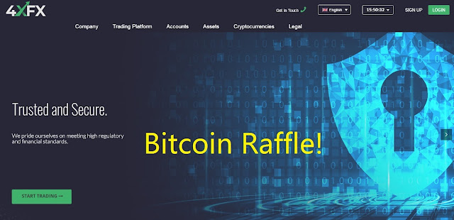 4XFX Monthly Bitcoin Lotto - Promotion