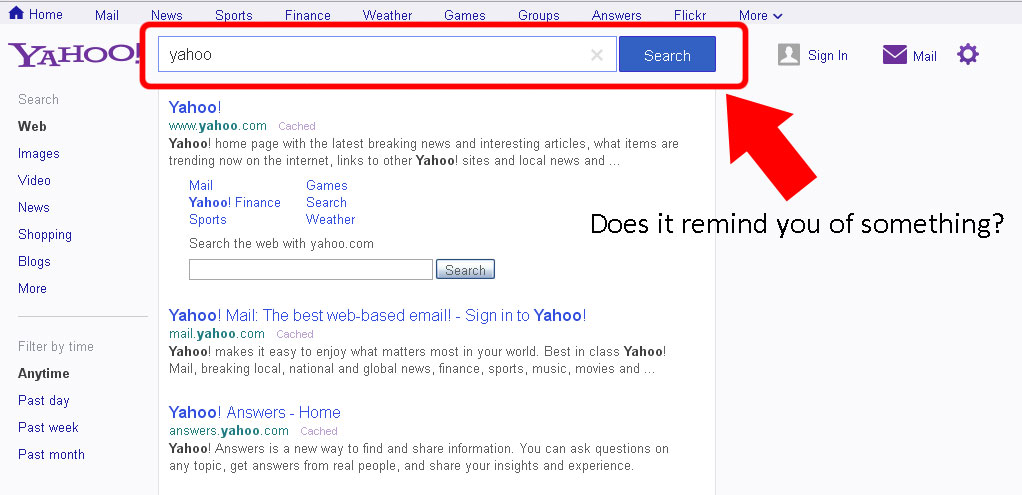 Yahoo! (New) Search Bar