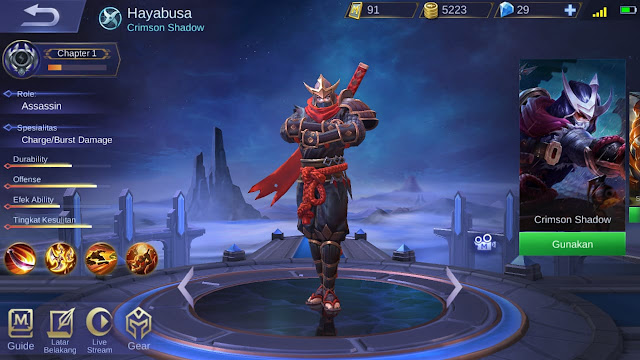 Assasin Terkuat di Mobile Legends Season 11 Hayabusa