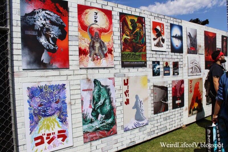 Godzilla art - Outside San Diego Comic Con 2014