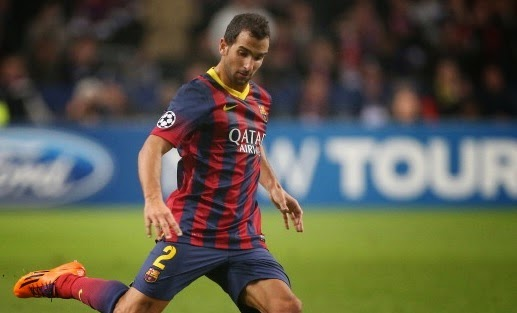 Arsenal to fight Liverpool for Barcelona defender Martin Montoya