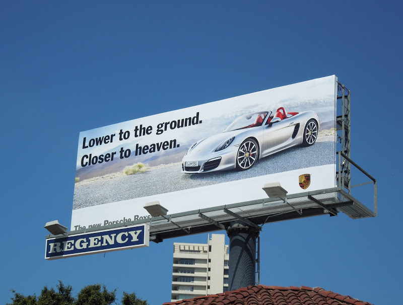 Porsche Boxster Closer heaven billboard