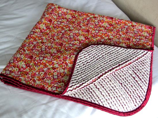 easy faux chenille blanket