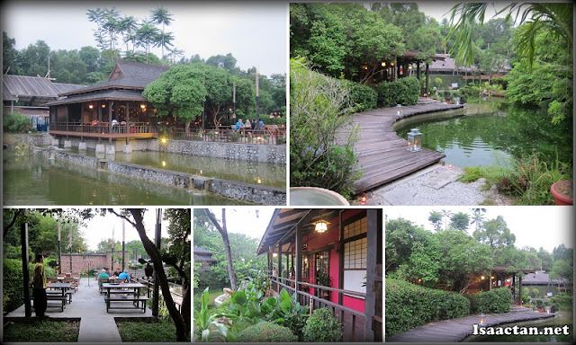 The beautiful Japanese-like lake garden surrounding of Samira