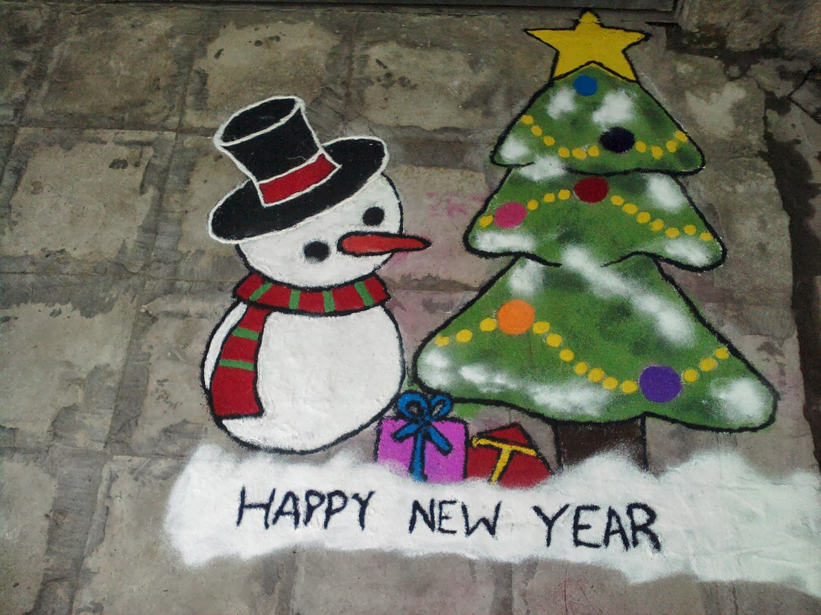 Happy New Year New Rangoli 64