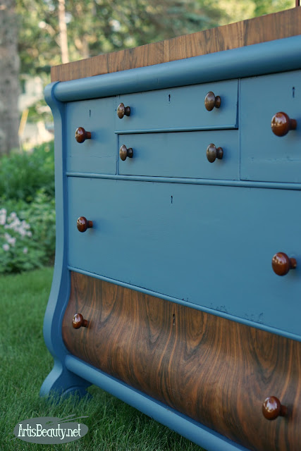 custom blue empire buffet makeover before and after general finishis coastal blue and persian blue