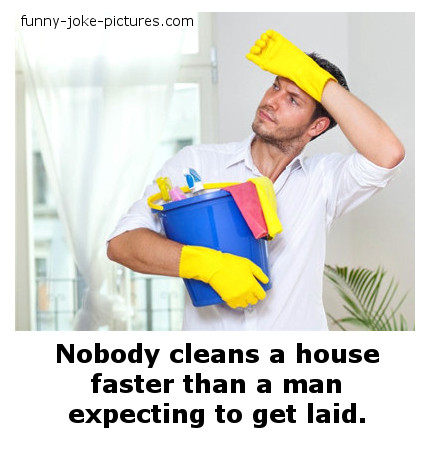 Funny Man Cleaning Sex Caption Picture