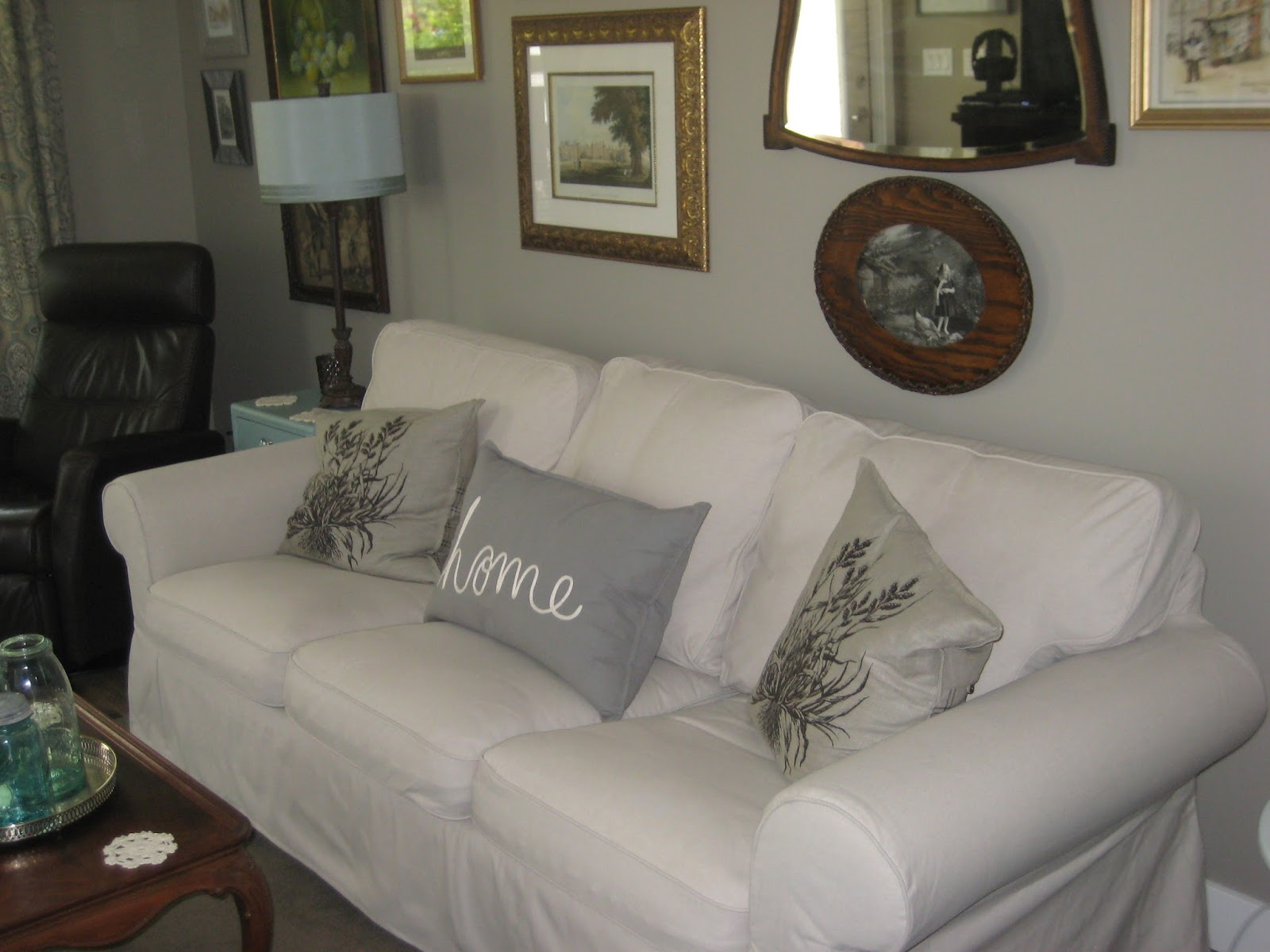 It Is Hard To Tell In The Photos But We Changed Out Colour Of Cover On Our Ikea Rp Sofa Top Lofallet Beige Which Are