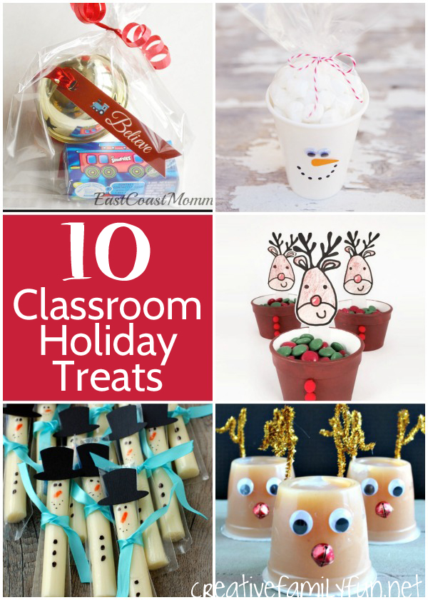 Are you a room mom? Here are some fun ideas for treat to bring to the classroom holiday party.