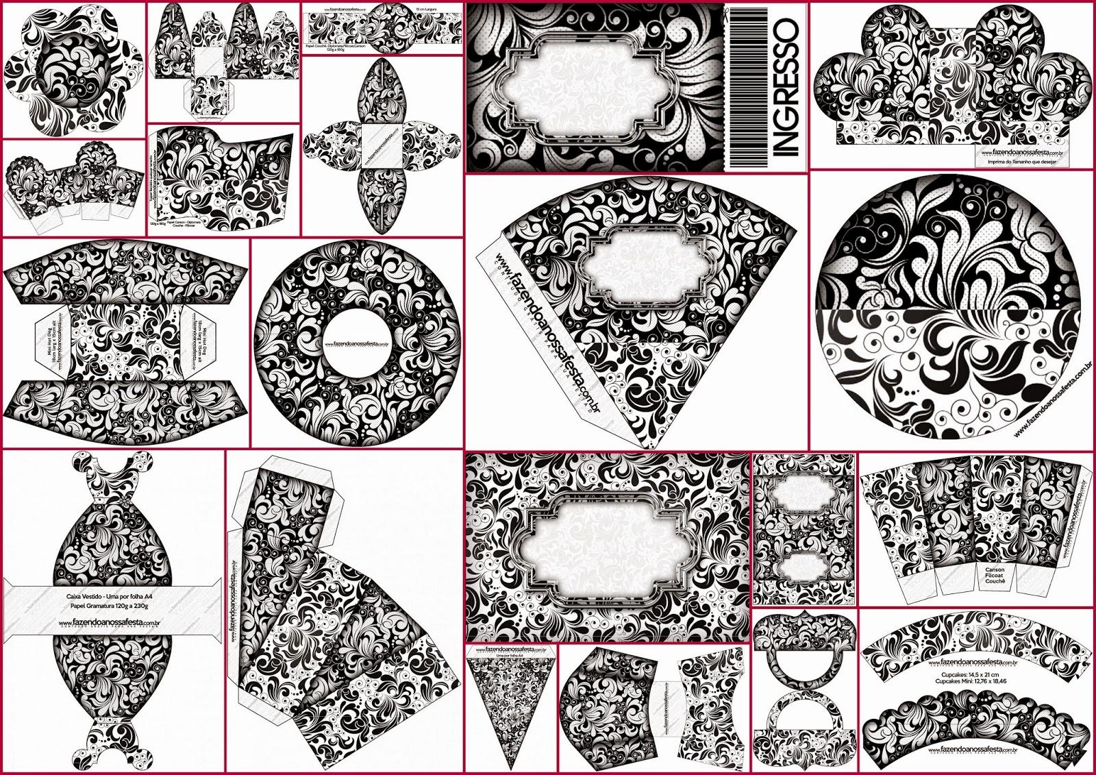 40 Imágenes Abstractas Para Descargar E Imprimir: Blanco Y Negro: Cajas Para Imprimir Gratis.
