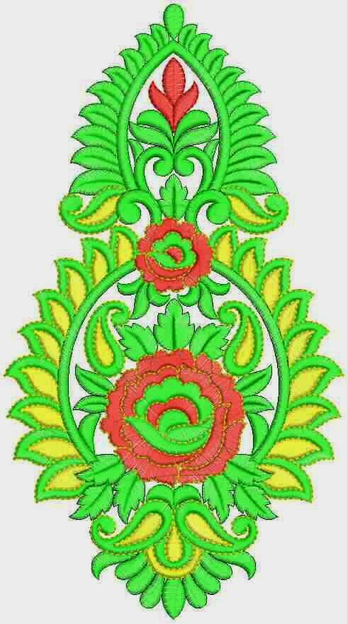 Embdesigntube Indian Fashionable Embroidered Patch Designs