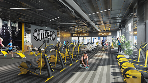 Khu tập Gym với đầy đủ trang thiết bị