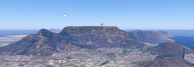 Table Montain, Cape Town. South Africa (Captured from Google Earth)