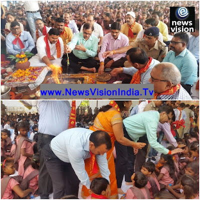 Uttar Pradesh Officials Organized Pooja Kanya Bhoj For Girls