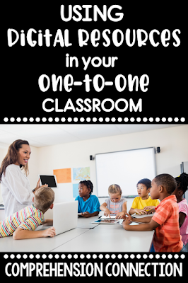 Have you wondered how to use digital resources? Perhaps you're needing options for your one-to-one classroom? Check out this post for information on how to use them.