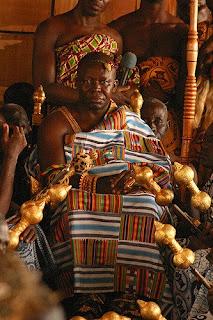 Chief wearing kente cloth in Ghana West Africa