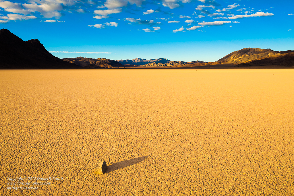 a photo of a Moving Rock on the Racetrack Playa Death Valley National Park