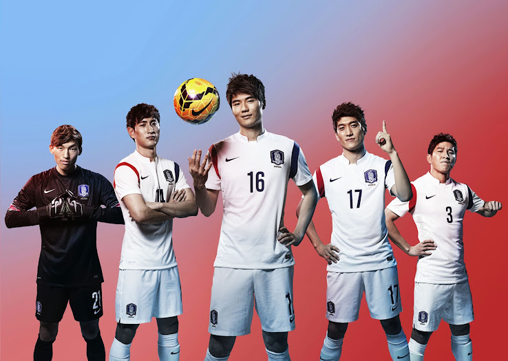 b73bdc398 South Korea 2014 World Cup Home and Away Kits Released - Footy Headlines