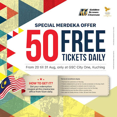GSC Cinema Free Movie Ticket Promo CityOne Kuching