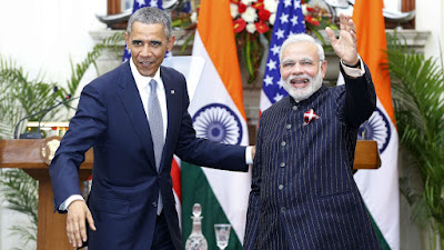 Narendra Modi with Barack Obama