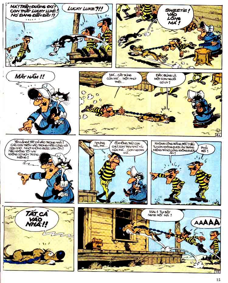 Lucky Luke tap 15 - ma dalton trang 16