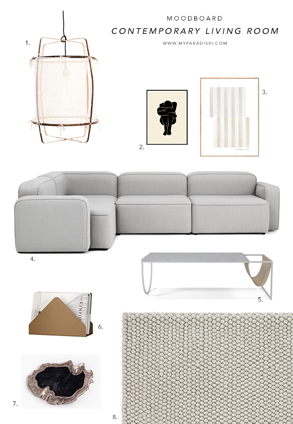 Incredible Moodboard Contemporary Living Room My Paradissi Bralicious Painted Fabric Chair Ideas Braliciousco