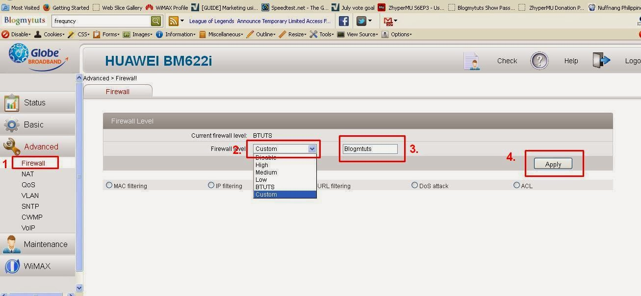 Huawei BM622i 2011 Package Date Change MAC - Telnet Always Remain