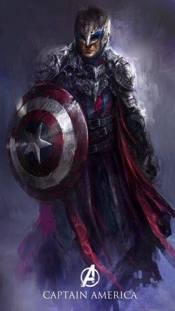 Capitão America, por Yong Min Yong