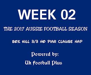 week 02 Aussie football pools system