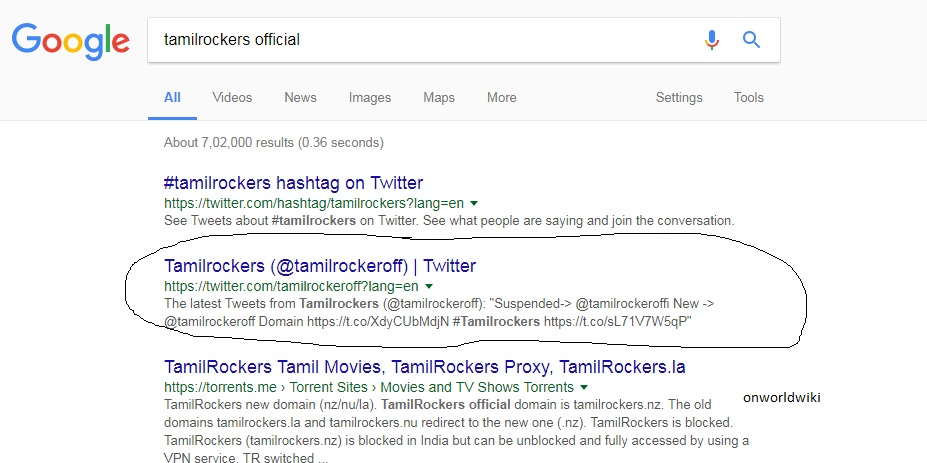 HOW TO OPEN TAMIL-ROCKERS SITE - ONWORLDWIKI