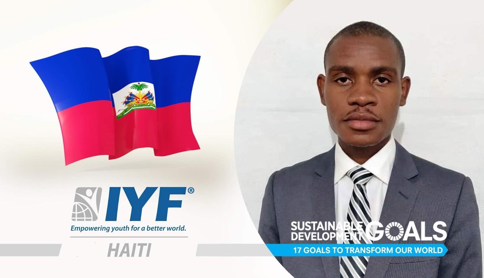 Luidgi Jivens Selvius, IYF Representative in Haiti