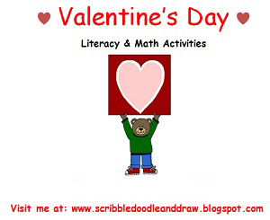 Valentine's day literacy and math Activities for kindergarten