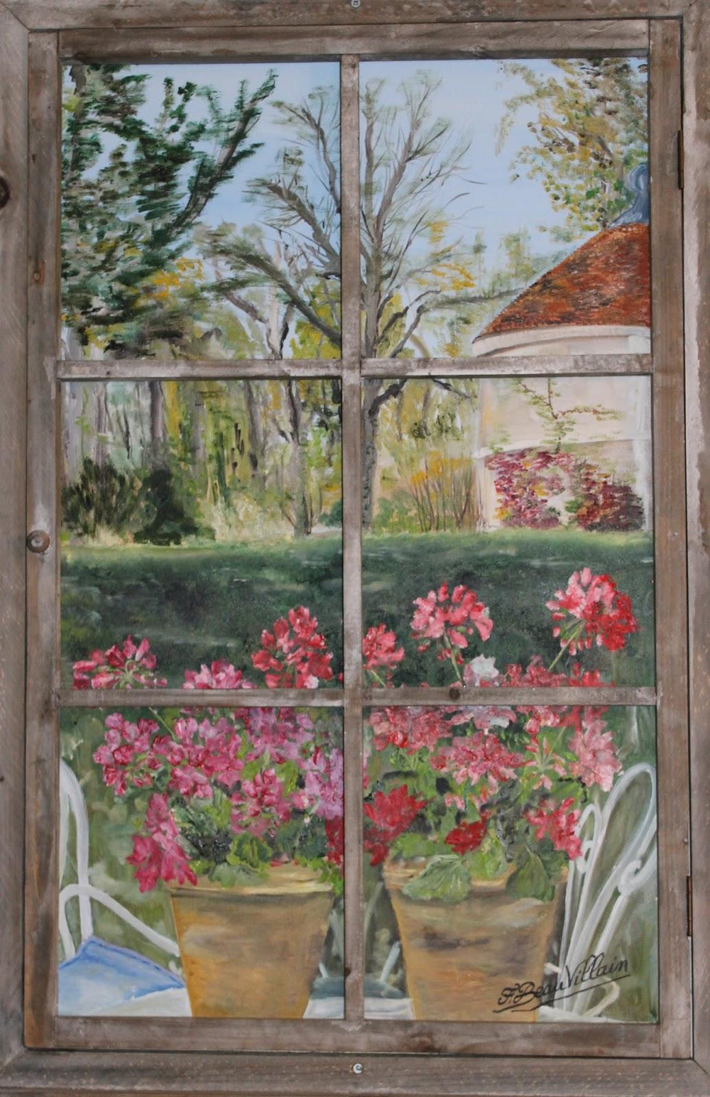 Artiste peintre dans l 39 yonne fleurs for Fenetre yonne