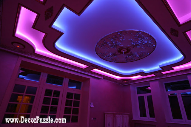 colored led lights strips,ceiling design ideas, ceiling designs 2018