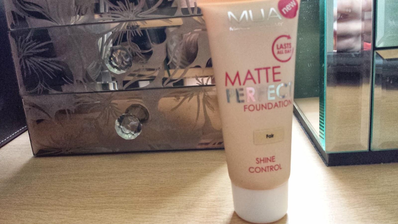 mua matte perfect foundation review