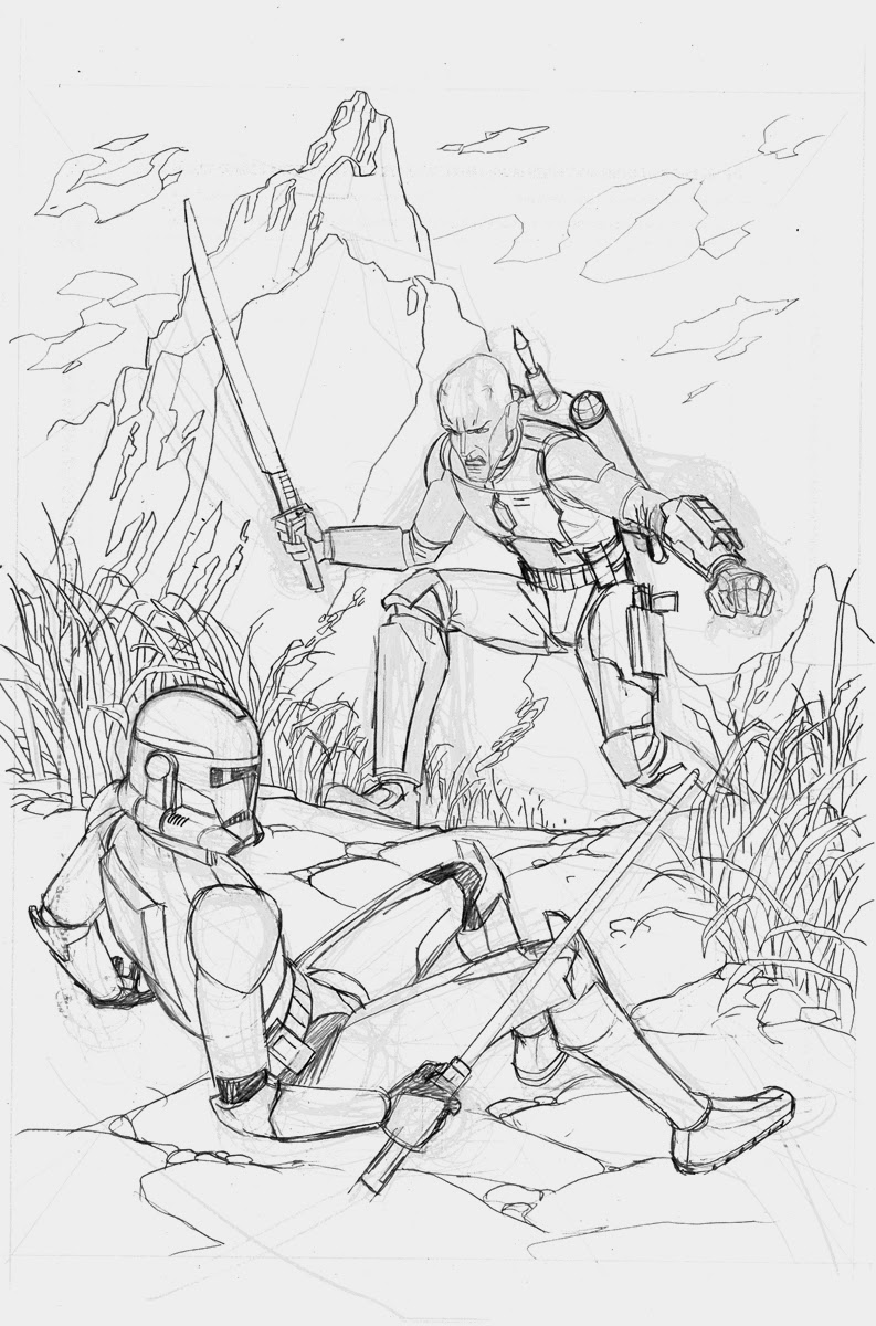 CloneTroopers from Star Wars coloring page printable game clone trooper coloring pages