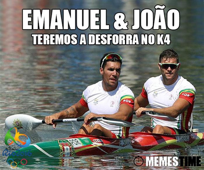 Memes Time Emanuel Silva e João Ribeiro no Rio 2016 em 4º Lugar na Final de K2 1000 metros – Teremos a Desforra no k4