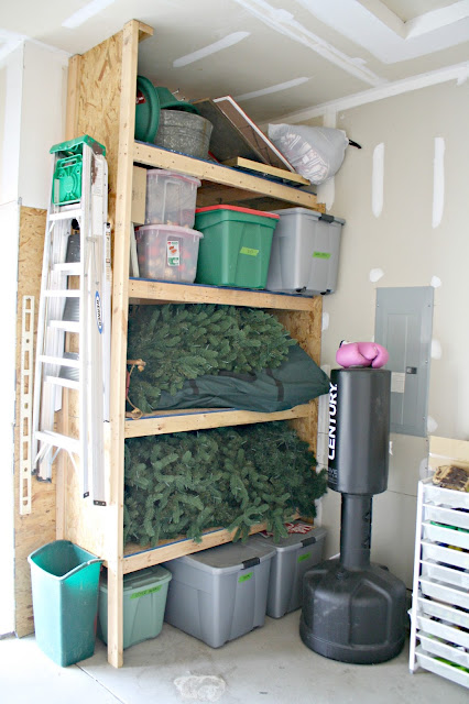 Holiday bin storage in garage