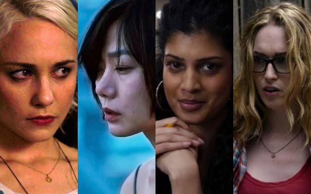 Na imagem: Montagem com as quatro protagonista de Sense8.