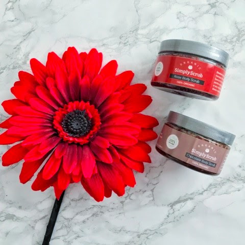SIMPLY SCRUB | 100% ORGANIC NATURAL AND CHEMICAL-FREE ROSE AND CHOCOLATE BODY SCRUBS