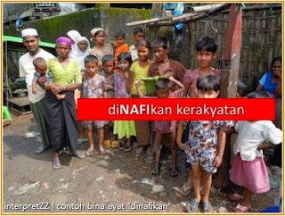 Bangsa Rohingya dinafikan kerakyatan oleh kerajaan Myanmar.